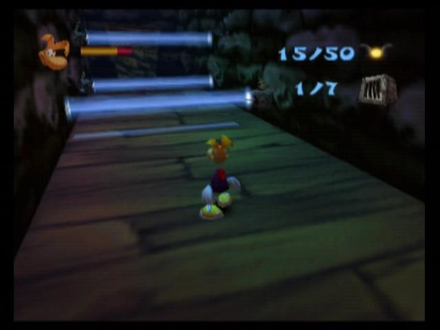 Rayman 2: The Great Escape Nintendo 64 These blue lasers can only mean trouble for Rayman