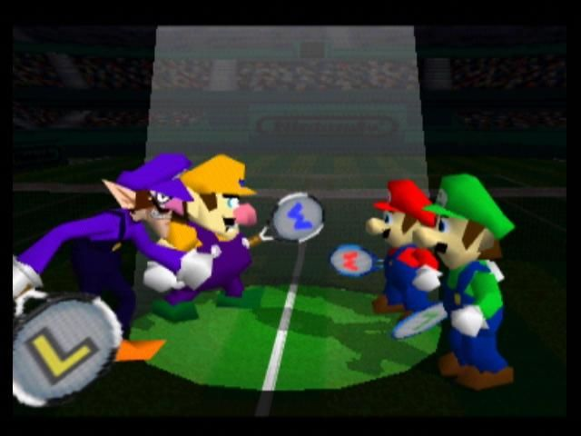 Mario Tennis Nintendo 64 The two pairs of brothers face off