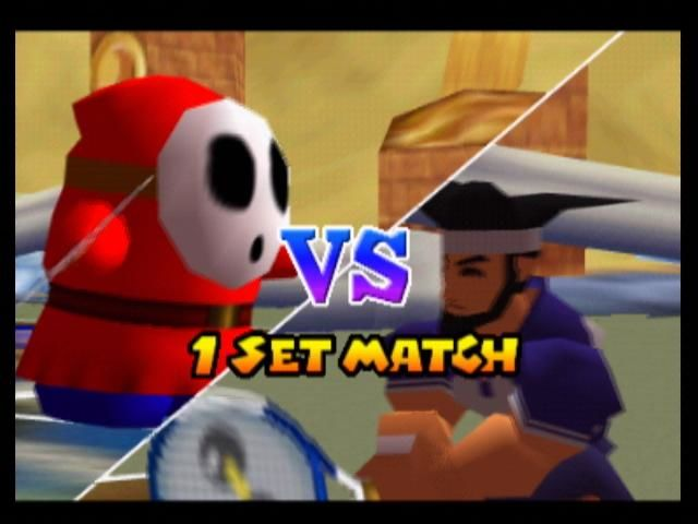 Mario Tennis Nintendo 64 Shy Guy vs the Game Boy character, Harry