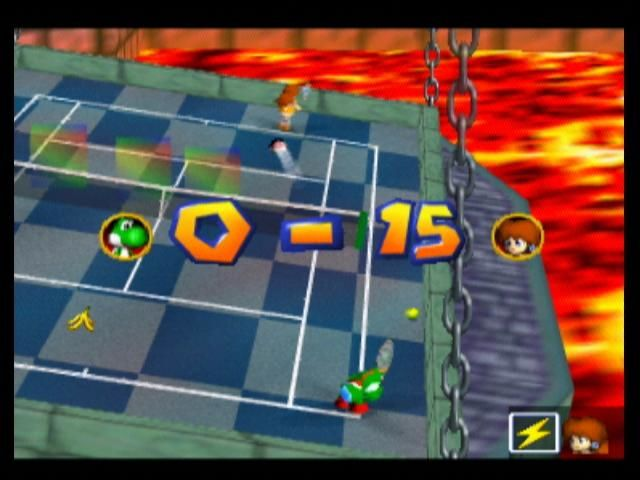 Mario Tennis Nintendo 64 Yoshi loses the shot