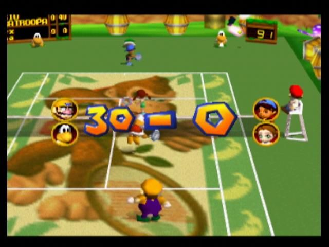 Mario Tennis Nintendo 64 Thirty/Love to Wario and Paratroopa