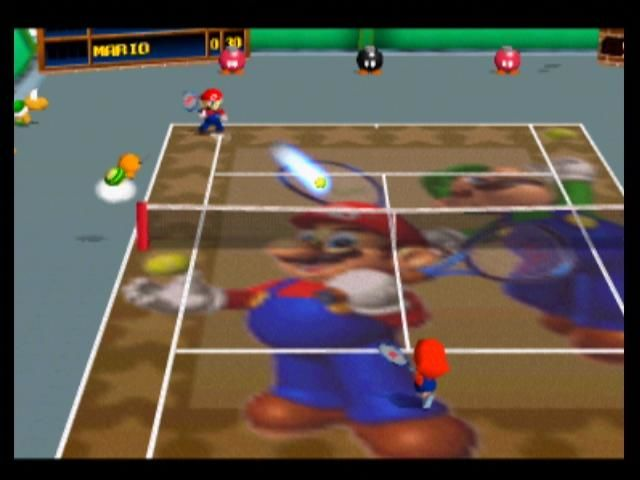Mario Tennis Nintendo 64 A possible time paradox with Mario and Baby Mario