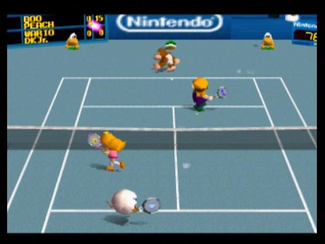 Mario Tennis Nintendo 64 When Boo hits the ball, it curves unpredictably