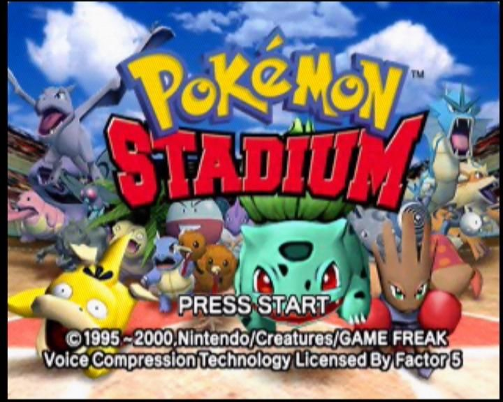 Pokémon Stadium Nintendo 64 Title screen