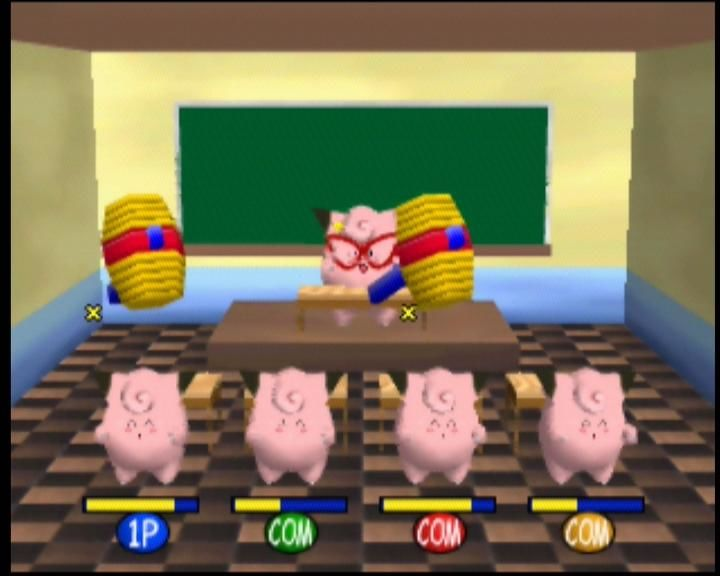 Pokémon Stadium Nintendo 64 Don't follow the Clefairy teacher's instructions, and you'll get whacked