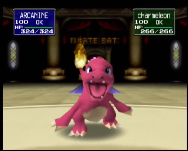 Pokémon Stadium Nintendo 64 Charmeleon is ready to fight