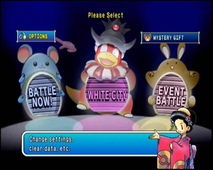 Pokémon Stadium 2 Nintendo 64 Main Menu