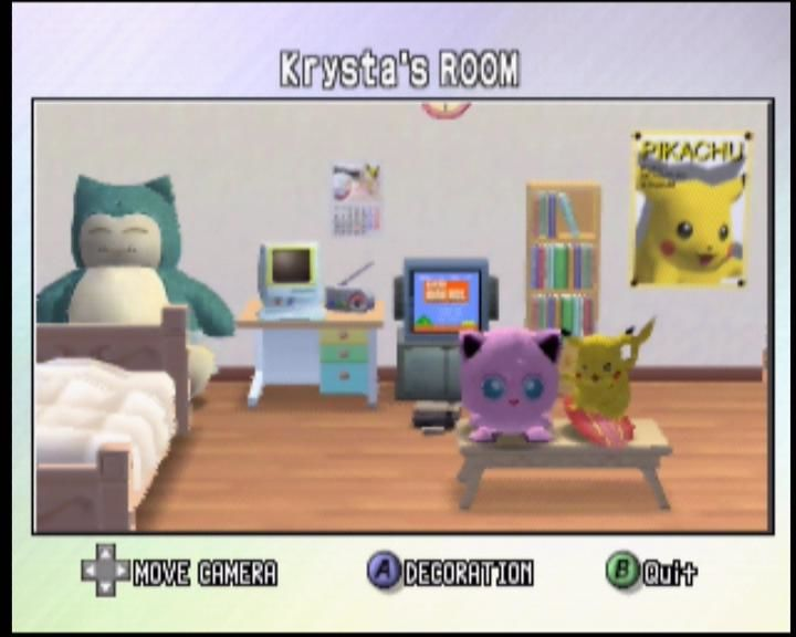 Pokémon Stadium 2 Nintendo 64 You can view and redecorate your own room in 3D