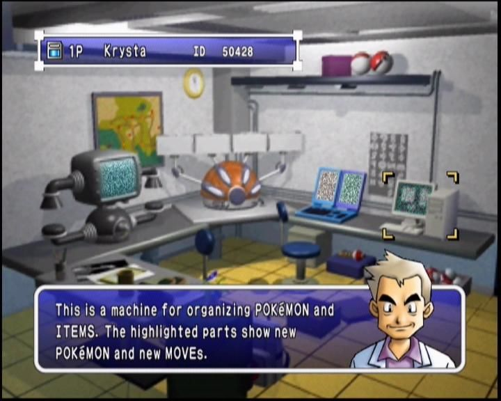 Pokémon Stadium 2 Nintendo 64 In Prof. Oak's lab, you can trade Pokémon, and sort and exchange items too