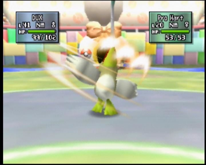 Pokémon Stadium 2 Nintendo 64 Farfetch'd retaliates with a slash