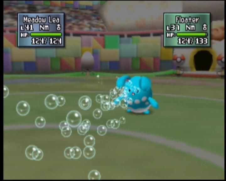 Pokémon Stadium 2 Nintendo 64 Azumarill blasts a bubblebeam