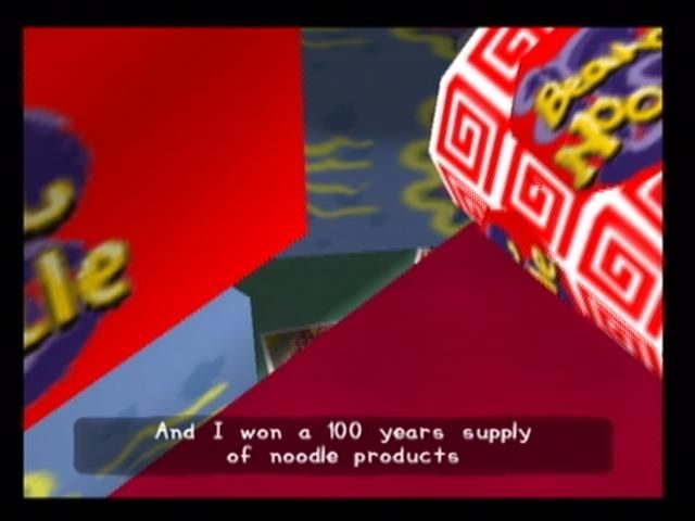 PaRappa the Rapper 2 PlayStation 2 PaRappa has won a lifetime supply of noodles, and now can't stand them