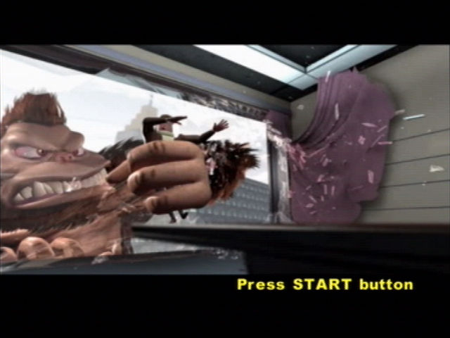 Rampage: Total Destruction PlayStation 2 The PR guy claims that everything is fine as he is snatched out the window