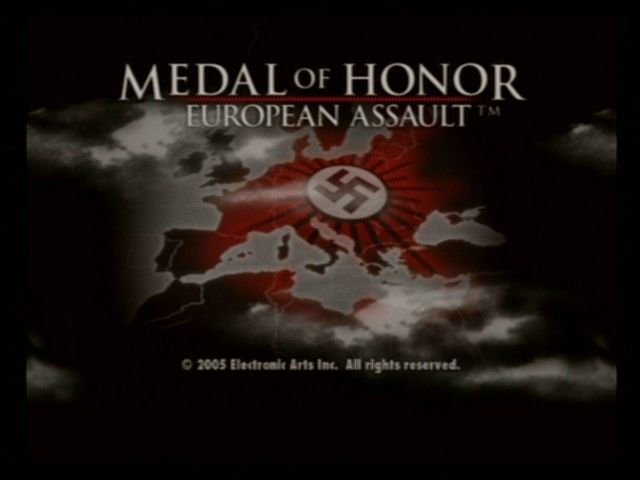 Medal of Honor: European Assault PlayStation 2 Title Screen