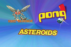 Asteroids / Pong / Yars' Revenge Game Boy Advance Title Screen