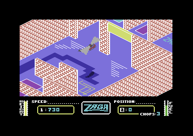 Zaga Mission Commodore 64 The security doors are opening and closing erratically.