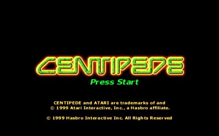 Centipede Dreamcast Title Screen