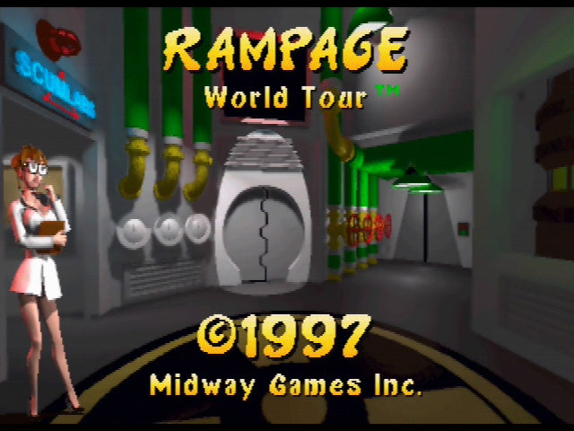 Rampage World Tour Nintendo 64 Opening Screen