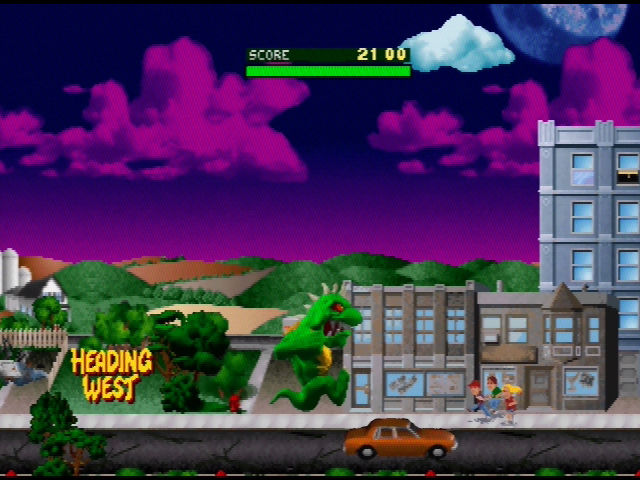 Rampage World Tour Nintendo 64 Your next destination will change depending on when you hit the billboard