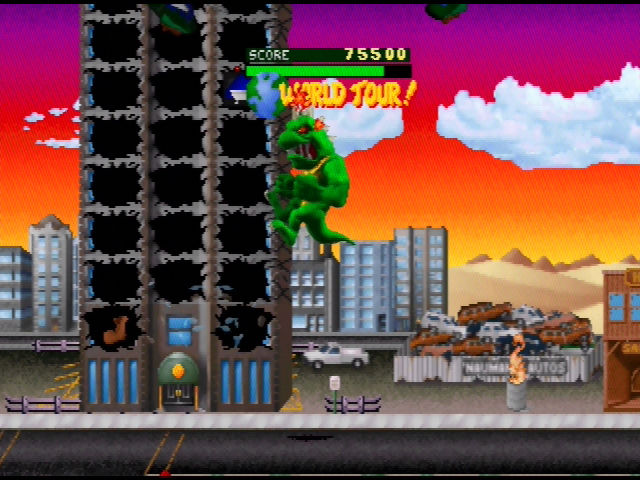 Rampage World Tour Nintendo 64 Grabbed a flag - next stage will be an international one!