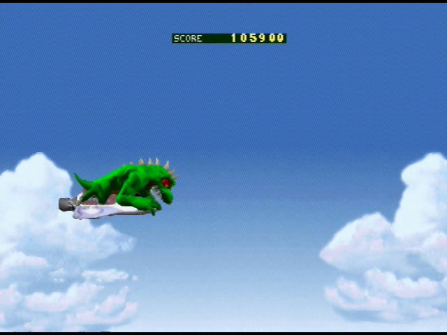 Rampage World Tour Nintendo 64 World Tour bonus stage - ride on a plane and snatch the bonuses!