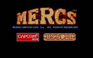 Mercs Atari ST Title screen