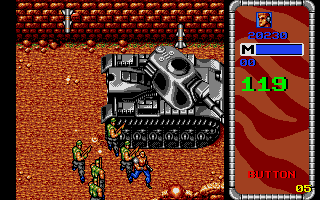 Mercs Atari ST A mid-level boss