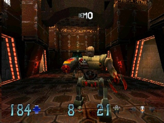Quake II PlayStation Running from a gladiator in attract mode
