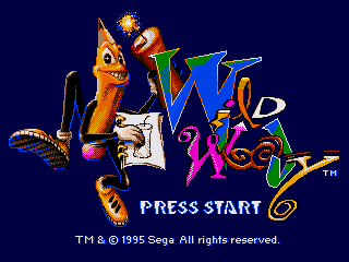 Wild Woody SEGA CD Title screen