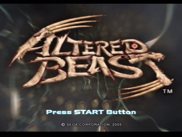 Altered Beast PlayStation 2 Title screen