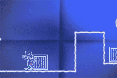 Pinky and The Brain: The Master Plan Game Boy Advance Pushing a box to reach the higher area