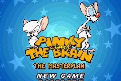 Pinky and The Brain: The Master Plan Game Boy Advance Title Screen/Main Menu