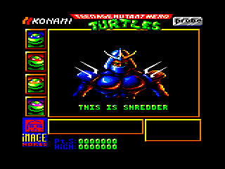 Teenage Mutant Ninja Turtles Amstrad CPC Introduction