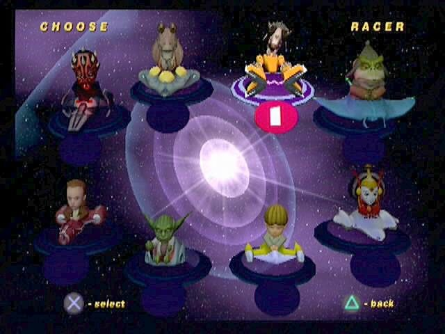 Star Wars: Super Bombad Racing PlayStation 2 Eight of the galaxy's most dreaded....kart racers...await your choosing on the character selection screen.