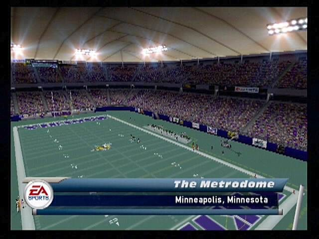 Madden NFL 2001 PlayStation 2 Domes may be a travesty to some football fans, but even the most ardent opponent of them has to appreciate how the stadiums are rendered.