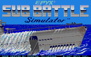 Sub Battle Simulator Atari ST Title screen
