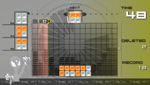 Lumines: Puzzle Fusion PSP At the start of the Time Attack mode