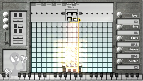 Lumines: Puzzle Fusion PSP «Please Return My CD» skin
