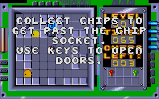 Chip's Challenge Atari ST Each level's tasks are explained on the ?