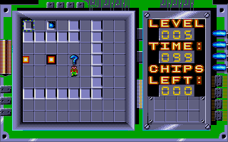 Chip's Challenge Atari ST Level 5 - get past the fireball as it follows a pre-set loop
