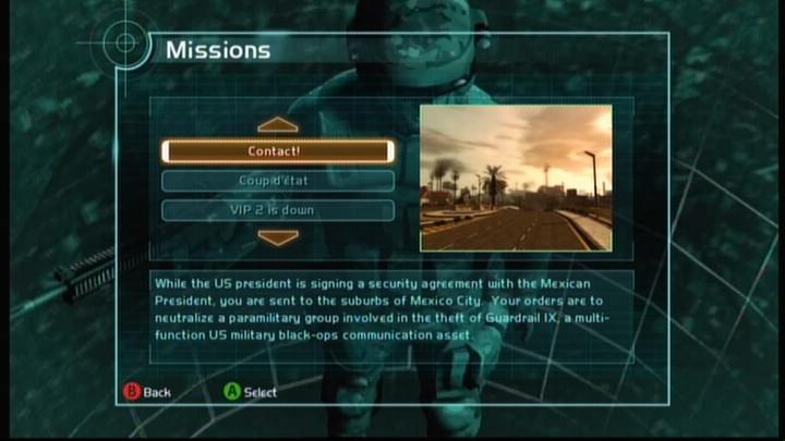Tom Clancy's Ghost Recon: Advanced Warfighter Xbox 360 You can replay any mission up to the point you reached in campaign.