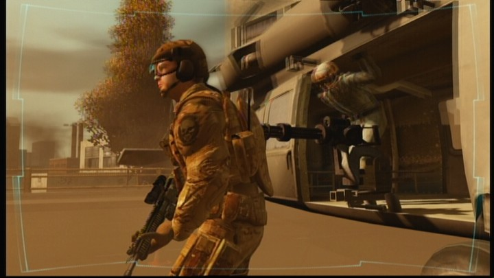 Tom Clancy's Ghost Recon: Advanced Warfighter Xbox 360 This'll be a good point for landing, the mission is afoot.
