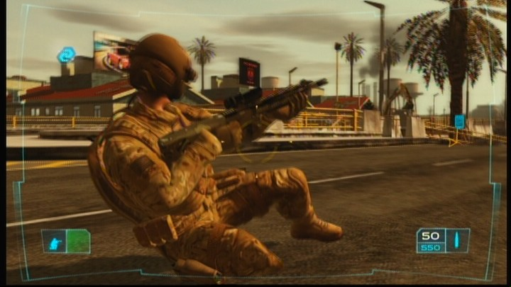Tom Clancy's Ghost Recon: Advanced Warfighter Xbox 360 You can slide down on your knees while running to avoid enemy fire in the open.