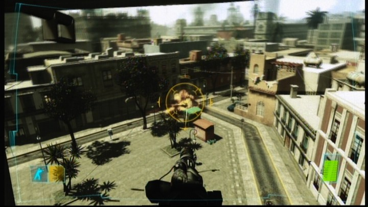 Tom Clancy's Ghost Recon: Advanced Warfighter Xbox 360 Taking out the armored vehicle.