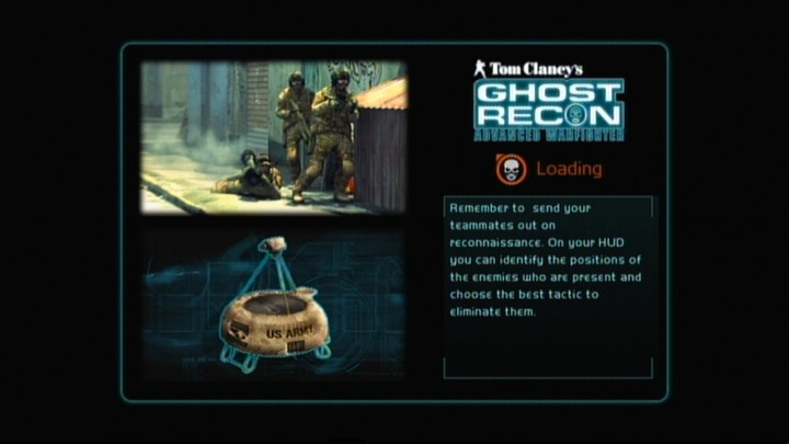 Tom Clancy's Ghost Recon: Advanced Warfighter Xbox 360 Loading screens usually provide some in-game hints.