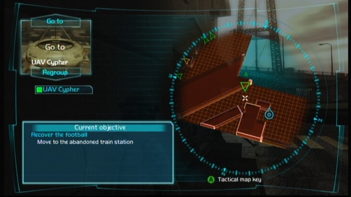 Tom Clancy's Ghost Recon: Advanced Warfighter Xbox 360 Using UAV Cypher drone to get info on the enemy before you reach their position.