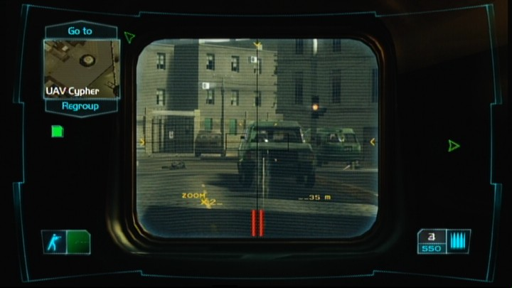 Tom Clancy's Ghost Recon: Advanced Warfighter Xbox 360 Different rifles have different types of scopes to look through.