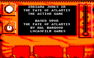 Indiana Jones and The Fate of Atlantis: The Action Game Amstrad CPC Startup