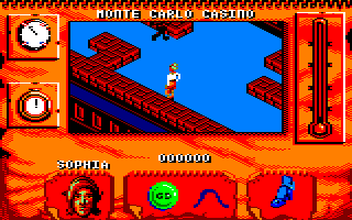 Indiana Jones and The Fate of Atlantis: The Action Game Amstrad CPC Playing as Sophia Hapgood
