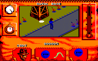 Indiana Jones and The Fate of Atlantis: The Action Game Amstrad CPC Near a watch tower